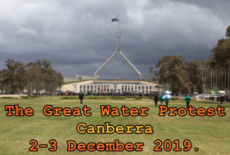 The Great Water Protest. Canberra (Video).